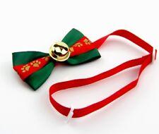noeud papillon chien ou chat vert et rouge costume cérémonie fêtes de noël
