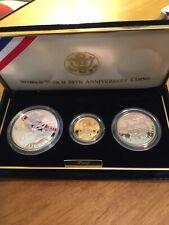 1995 World War Ii 50th Anniversary - 3 coin set - proof