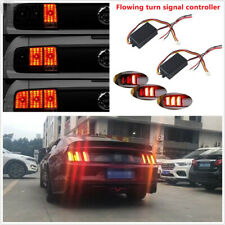 2 Pcs 12V Car Turn Signal Light 3-Step Sequential Dynamic Chase Flash Module Kit