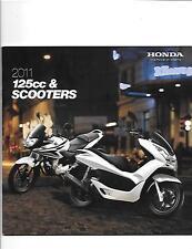HONDA 125cc AND SCOOTER MODELS SALES BROCHURE JANUARY 2011