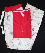VICTORIA'S SECRET The Dreamer Henley PJ SET ~Size S~ Flannel Paris New York NEW