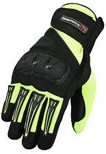 Guanti verde uomo con protezione dita per motociclista