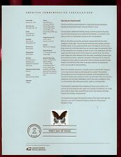 #4736 66c Swallowtail Butterfly Stamp USPS #1306 Souvenir Page