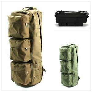 Military Satchel Kit Bag Shoulder Outdoor Army Green Vintage Khaki Black Travel