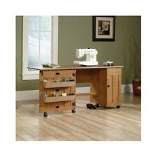 Sewing Craft Table Folding Drop Leaf Extension Hobby Workstation Storage Cabinet