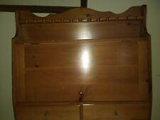 Vintage Wood Wine Stem Glass Storage Cabinet 2 Drawers Magnictic Latch.