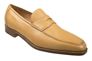 Silvano Lattanzi Tan Leather Loafers Shoes 9.5 (EU 8.5) Hand-made in Italy