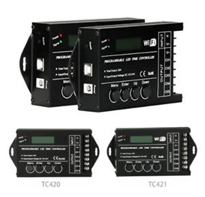 TC420 TC421 TC423 Time Programable RGB LED Controller Dimmer DC12V/24V 5 Channel