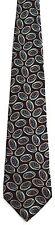 Men's New Neck Tie, Dark Blue with Green Brown Tan Ovals by Oleg Cassini