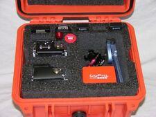 Orange Pelican ™ 1300 Case fits 2 GoPro Hero6 6 5 4 3+ 3 2 Black Ed +nameplate