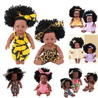 30cm Lifelike Reborn Baby Dolls Realistic Vinyl Silicone Newborn Black Doll