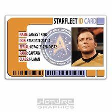 Plastic ID Card (TV & Film Prop) - Captain James T Kirk - STAR TREK STARFLEET