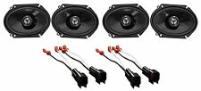"""2005-2006 Ford Mustang JVC 6x8"""" Front+Rear Factory Speaker Replacement Kit"""