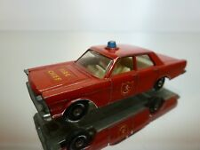 MATCHBOX LESNEY 55 59 FORD GALAXIE - FIRE CHIEF RED - GOOD CONDITION