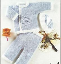 "Vintage Knitting Pattern Baby Jacket, Leggings & Cap 16""- 22"" Chest, number 290"