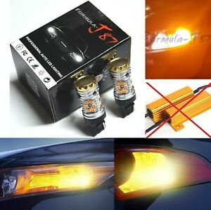 Canbus Error Free LED Light 7440 Amber Two Bulbs Front Turn Signal Replace Lamp