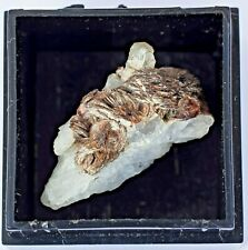 Bladed Serandite with Pectolite: Mt. St. Hilaire,Quebec, Canada, Micromount