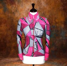 MEDIUM  Showmanship Pleasure Horsemanship Show Jacket Shirt Rodeo Queen Rail