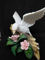 A Vintage 'Wellington Collection' Bird Single White Dove Bisque Figurine