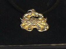 """Crab TG299 English Pewter On 18"""" Black Cord Necklace"""