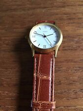 Ladies Gold Coloured Round Faced Quartz Watch  W182/8