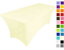 CREAM spandex lycra stretch cover tablecloth for 6ft foot table 180X75X75