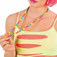 Neon Necklace Rave Hen Do Accessory Party 80's Beads Statement Jewellery Fancy