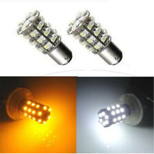 2 * 12V BAY15D 1157 60 SMD White Amber LED Bulb Car Tail Lamp Turn Signal Lights
