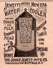 AD LOT OF 2 1890 'S ADS JEWETT WATER COOLER FILTER BUFFALO