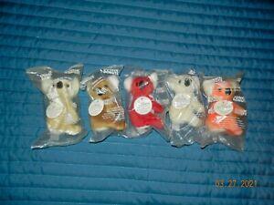 Dunkin Donuts Coolatta Bears, Complete Set of 5 NEW!!!!!
