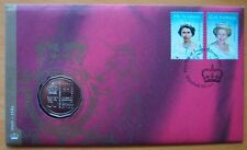 2002 GOLDEN ANNIVERSARY QUEEN'S ACCESSION AUSTRALIAN  PNC STAMP & COIN COVERS
