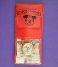 VINTAGE BRADLEY MICKEY MOUSE WRIST WATCH SWISS ORG PACKAGING HAPPY BIRTHDAY