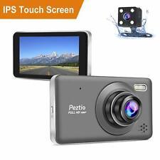 Dual Dash Cam Front and Rear Full HD 1080P Car Dash Cam, Car DVR Dashboard IPS