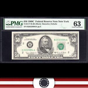 1969-C $50 New York FRN Federal Reserve Note PMG 63 Fr 2117-B  B26326884A