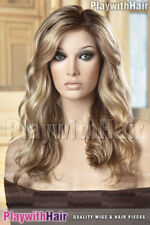 Soft Beachy Waves Lace Front Wig Hand Tied Mono Top Soft Blonde Regrowth Stacked