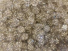 500 pcs Crystal Clear Rhinestone Diamonettes Round Plastic Acrylic Craft Beads