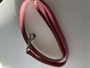 Pink Dog Faux Leather Lead 39 Inch Long