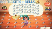 Animal Crossing New Horizons 800 NMT 🎫 Nook Miles Ticket + 3 MILLIONS BELLS 🔔