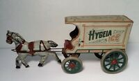 Vintage Converse Tin Litho Hygeia Ice Horse Drawn Cart Wagon