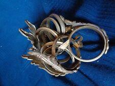 lot 8 anneaux de rideau tenture laiton bronze ciselé ancien 18 19 eme louis xv