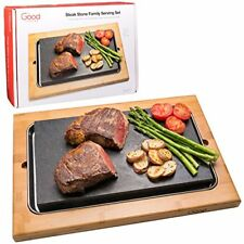 Cooking Stone- Lava Hot Stone Cooking Platter and Cold Lava Rock Hibachi
