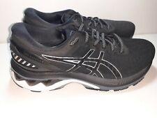 Asics Gel-Kayano 27 D Black Silver White Women Running Shoes 1012A713 worn once