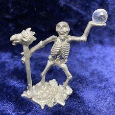 Spoontiques Pewter Skeleton w/ Dragon Head Cane Staff Figurine Fantasy Mr888