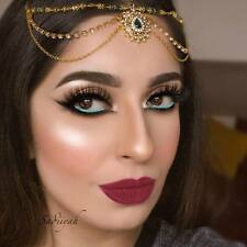 Hijab Pin Wedding Bridal Tikka Cheveux Bracelet Bijoux Tête Pièce Parti vert