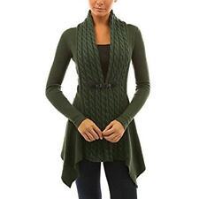 HOT Women Long Sleeve Knitted Cardigan Loose Sweater Jacket Coat Outwear Tops US