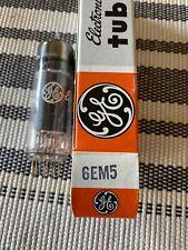 GE 6EM5 RADIO AMPLIFIER TUBE NOS Tested Excellent