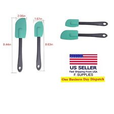 Set Of Two Silicone Spatula With Dual Sided Scraper & Spoonula Flexible Tip