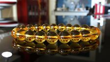 "CITRINE bead bracelet for MEN (Stretch) AAA 10mm - 8"" or 7.5"" GOLD"