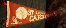 RARE BIG 1940s? Souvenir St. Louis Cardinals Baseball Pennant 2 CardinalsBatBall