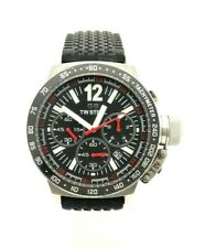 TW Steel CE1015 Canteen Chronograph Men's Black Stainless Leather Watch 45 mm